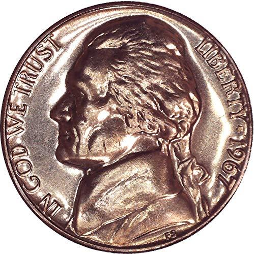 1967 Jefferson Nickel SMS (Special Strike) 5C Brilliant Uncirculated (Jefferson Mint Ngc Nickel)