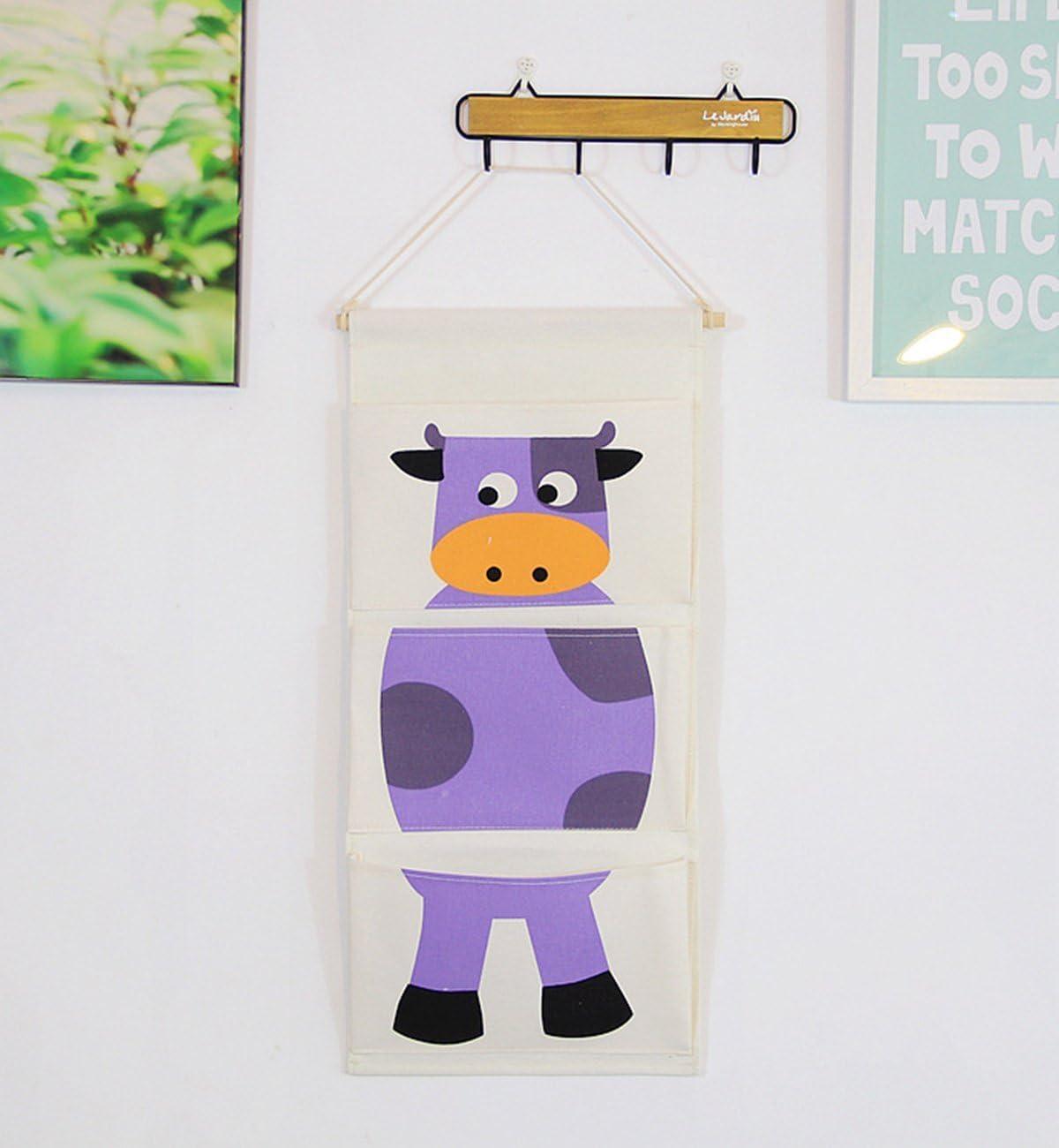 Chicieve Tissu de coton Mur Porte de placard /à suspendre Sac de rangement Coque poches Home Organiseur Sac de rangement pour chambre d/'enfant//porte