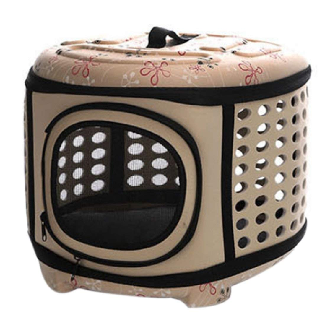 Apricot XAJGW Deluxe Pet Carrier Backpack for Small Cats and Dogs, Puppies   Ventilated Design, Two-Sided Entry, Safety Features and Cushion Back Support   for Travel,Outdoor Use