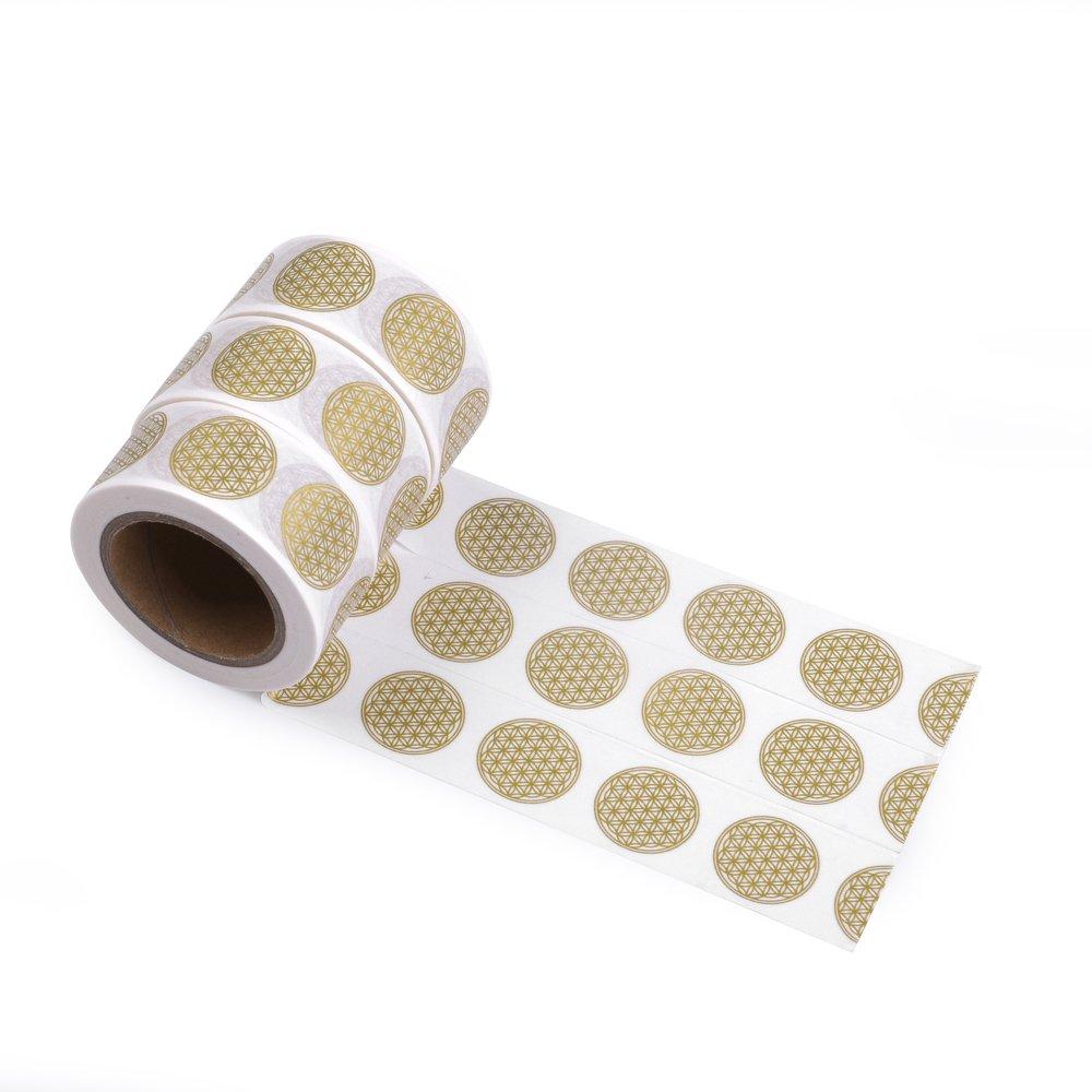 Kit de papier washi tape, fleur de vie, 3x 10m, ruban décoratif, Masking Tape, EWT-de 16A 0016–1 EWT-de 16A 0016-1 EAST-WEST Trading GmbH