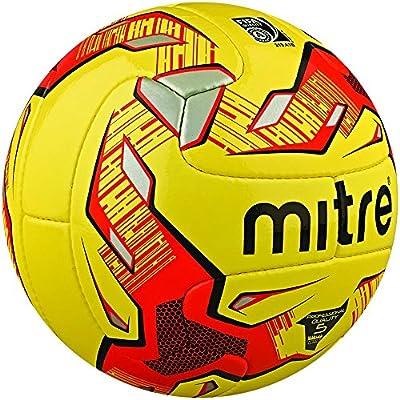 Mitre MAX - Balón de fútbol de competición, Color Amarillo, Talla ...