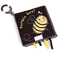 Infant Cloth Book, No Fading Washable Built-In Safety Mirror Baby Cloth Book, Durable Tear Resistant for Children Kids…