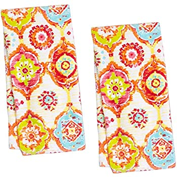 Amazon.com: Fiesta Kitchen Towel, 16 by 28-Inch, Embroidered Print ...