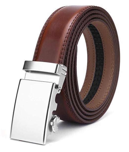 foto ufficiali vasta selezione nuovo stile Nelbons Uomo Cintura-Pelle Automatico Cintura Per Uomo ...