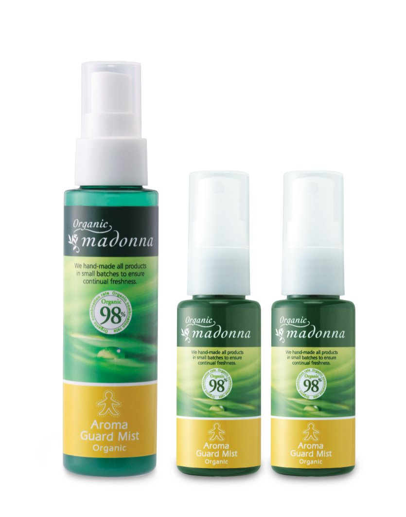 Organic Madonna aroma guard mist 80ml <1 this> + Misutomini 35ml <2 this> set (by 100% insect natural ingredients only aroma mist)