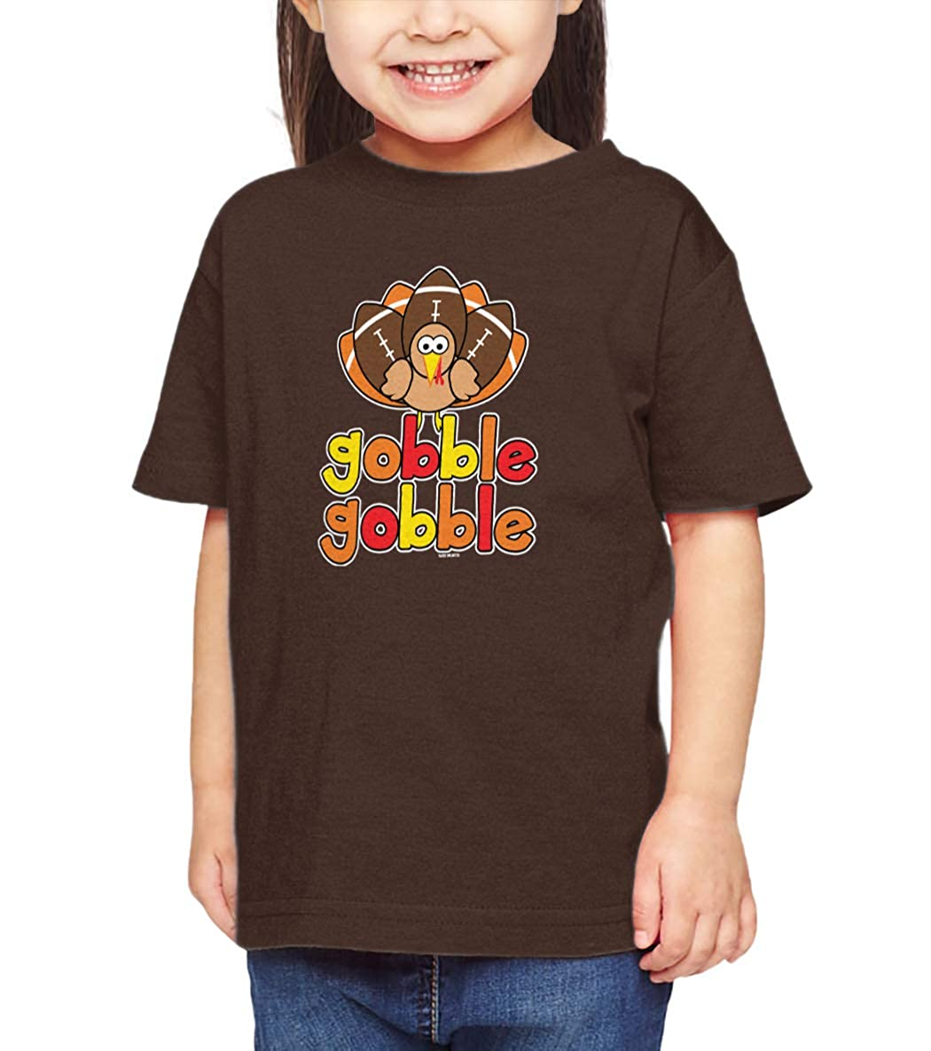 Football Turkey Autumn Infant//Toddler Cotton Jersey T-Shirt HAASE UNLIMITED Gobble Gobble