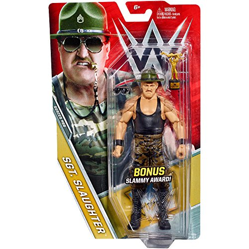 WWE Basic Series #69 - Sgt. Slaughter Figure Chase with Slammy Award by Mattel