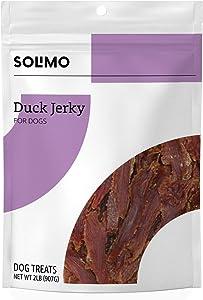 Amazon Brand - Solimo Jerky Dog Treats, 2 Lb Bag (Chicken, Duck, Sweet Potato Wraps)