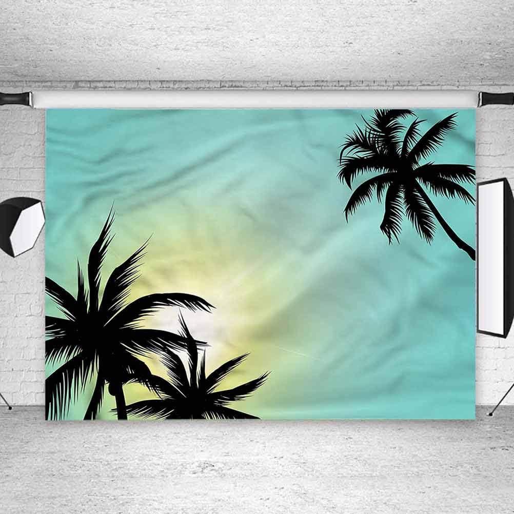 6x6FT Vinyl Photography Backdrop,Modern,Hawaiian Miami Beach Sun Photo Background for Photo Booth Studio Props