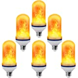 CPPSLEE - LED Flame Effect Light Bulb - 4 Modes with Upside Down Effect - E26 Base LED Bulb - Flame Bulbs for Christmas Decorations /Hotel/Bar/Christmas Party Decoration (6 Pack )