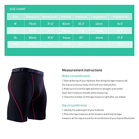 Amazon.com : JOJEN Anooma Mens 3 Pack Sport Compression Shorts for Men Workouts Running Training Cycling Weightlifting : Sports & Outdoors