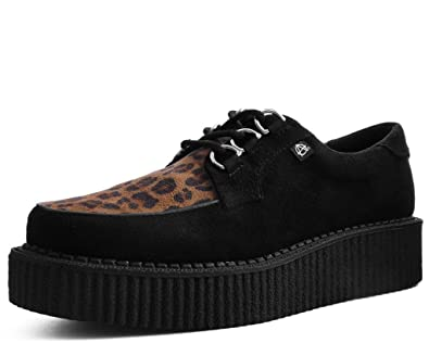 17cf1341c02de TUK Shoes T2263 Unisex-Adult Creepers, Black & Leopard Anarchic Creeper