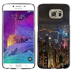 LECELL--Funda protectora / Cubierta / Piel For Samsung Galaxy S6 SM-G920 -- City Skyscraper Night Architecture --