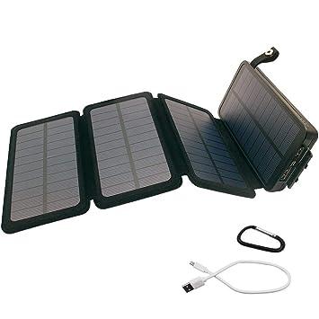 L@ily Cargador Solar portátil, 20000mAh Banco de energía ...