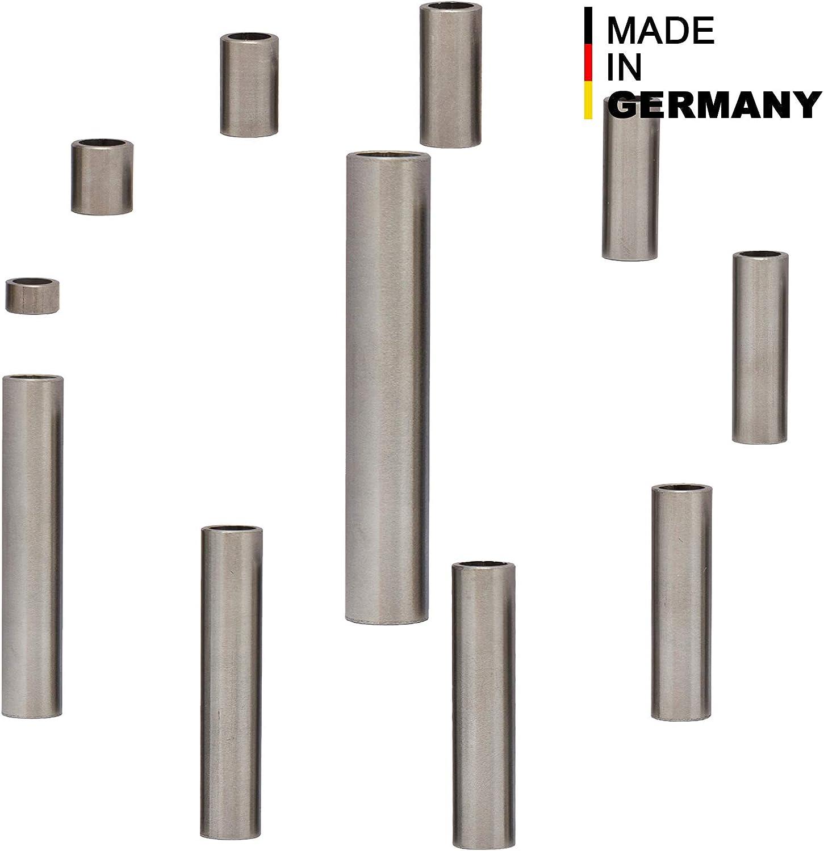 espaciadores di/ámetro exterior de 8 mm espaciadores di/ámetro interior de 6 mm 4 unidades Casquillos distanciadores M6 de acero inoxidable casquillos de acero inoxidable A2 FASTON
