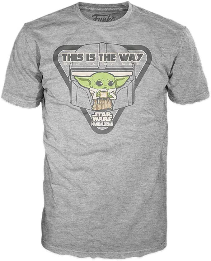 Funko Star Wars: The Mandalorian - The Child with Soup, This is The Way (Gray) (3XL), Multicolor