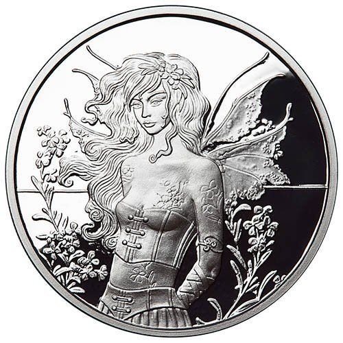 Amy Brown Collection - Wallflower Fairy 1 oz Silver Proof Capsuled Round W/COA
