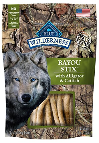 BLUE Wilderness Grain Free Denali Stix with Wild Salmon, Venison, & Halibut Dog Treats 6-oz
