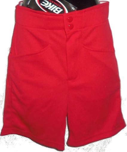 Amazoncom Bike Athletic Brand Mens Red Coaches Shorts Baseball