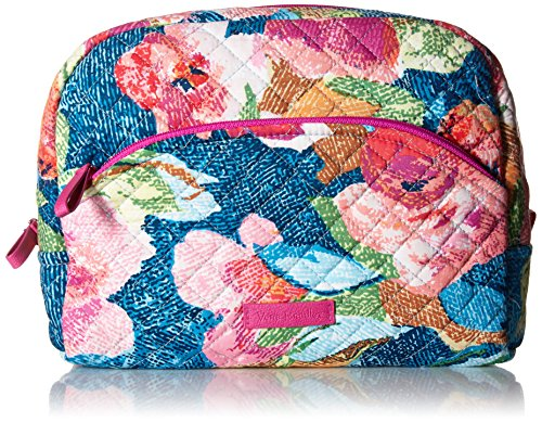 - Vera Bradley Iconic Large Cosmetic, Signature Cotton, Superbloom
