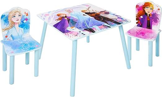PEGANE - Juego de Mesa y 2 sillas para niños, diseño de Frozen: Amazon.es: Hogar
