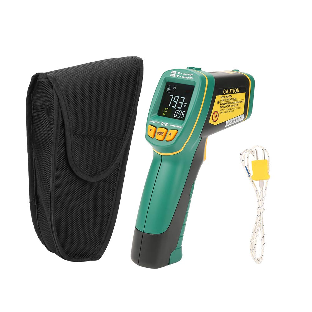 Akozon Handhold Digital Thermometer MASTECH MS6531A/B/C Color Screen Infrared Thermometer Instant Cooking Thermometer -60℃~1090℃(-76℉~1994℉)with K Type Probe(MS6531A)