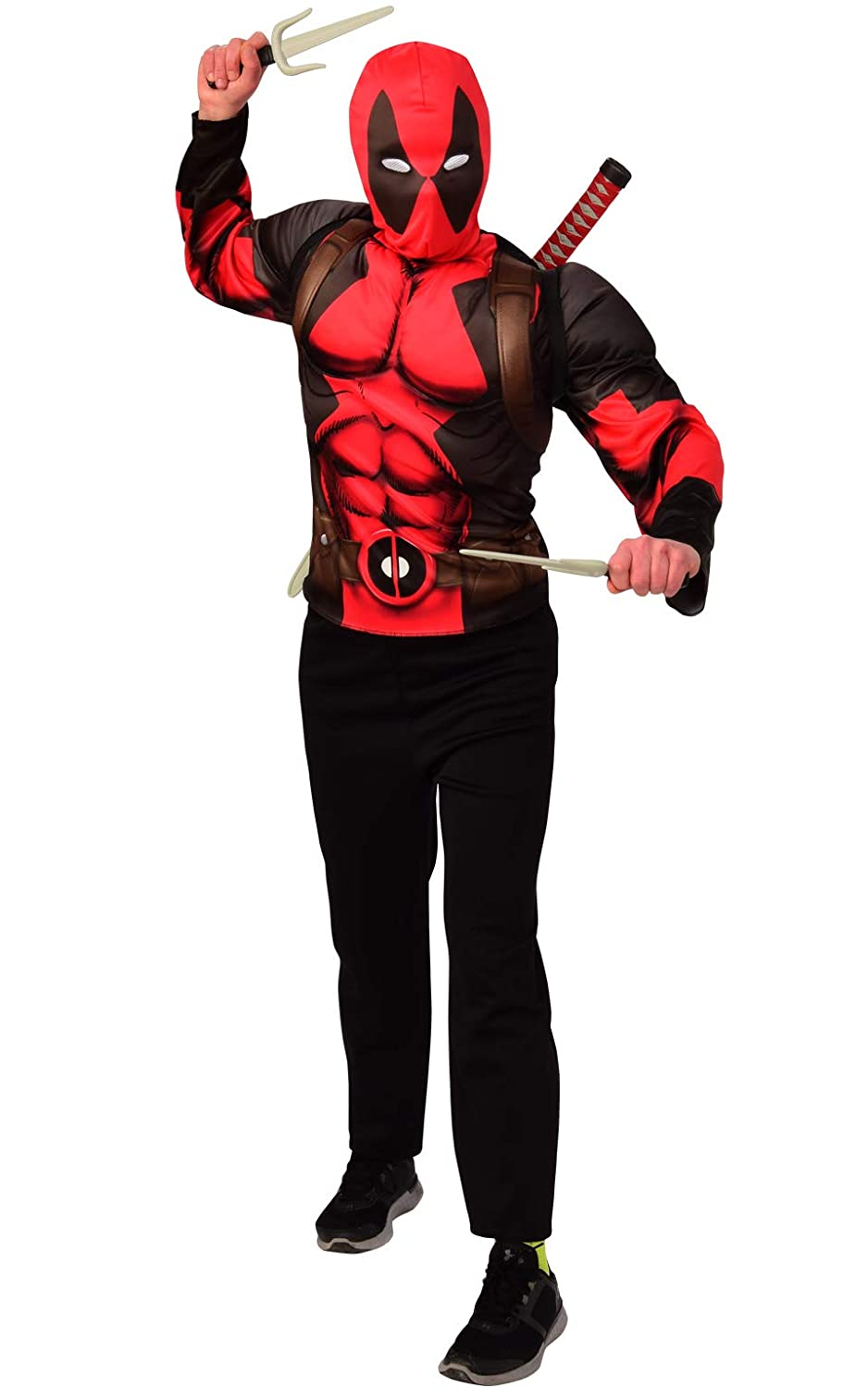 Large Imagine by Rubies G34233/_OL Imagine by Rubies Deadpool Teen Costume Top and Weapon Backpack Kit