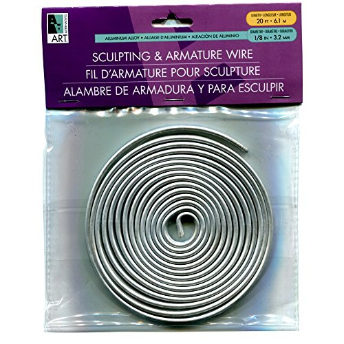 Armature Wire 1/8In X20Ft Coil (Bendable Metal)