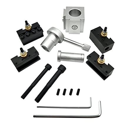 KKmoon Mini herramienta de cambio rápido de CNC Herramienta de torno  Portaherramientas Poste Portacuchillas Juego de 60c204c3e1a2
