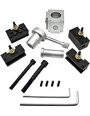 KKmoon Mini herramienta de cambio rápido de CNC Herramienta de torno Portaherramientas Poste Portacuchillas Juego de
