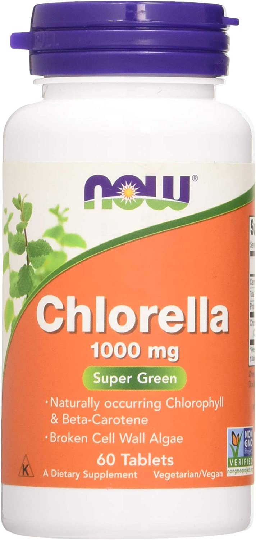 Now Foods Chlorella 1000 mg - 60 Cápsulas