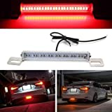 iJDMTOY (1) Universal Fit Brilliant Red 24-SMD LED Light Bar Compatible With Car As Rear Fog Light or 3rd Brake Tail…