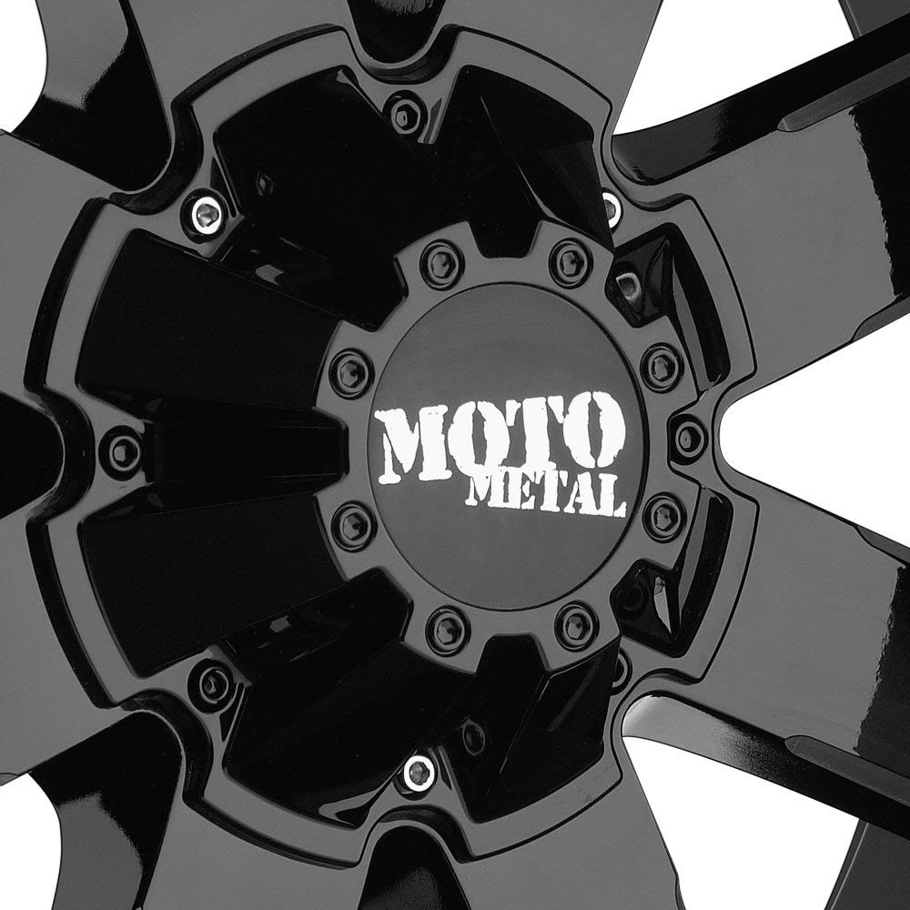 Moto Metal MO962 Gloss Black Milled Wheel with Painted and Chromium hexavalent compounds 20 x 10. inches //6 x 106 mm, -24 mm Offset