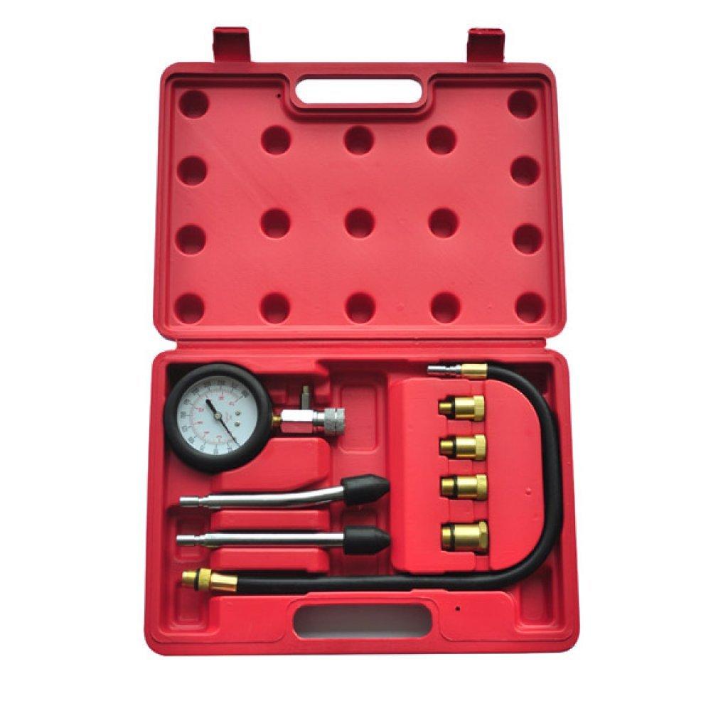Festnight 9 Pieces Auto Petrol Engine Compression Tester Kit for Garage Workshop DIY Tools