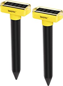 Diaotec Solar Powered Mole Repellents Sonic Spike Vole Deterrent Human Way to Get Rid of Moles from Your Lawn and Garden (2)
