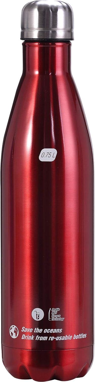 Unisex Adulto Cressi Water Bottle H20 Stainless Steel Botella Deportiva de Acero Inoxidable