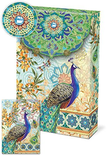 Punch! Software Pouch Note Cards (Royal Peacocks 57938)