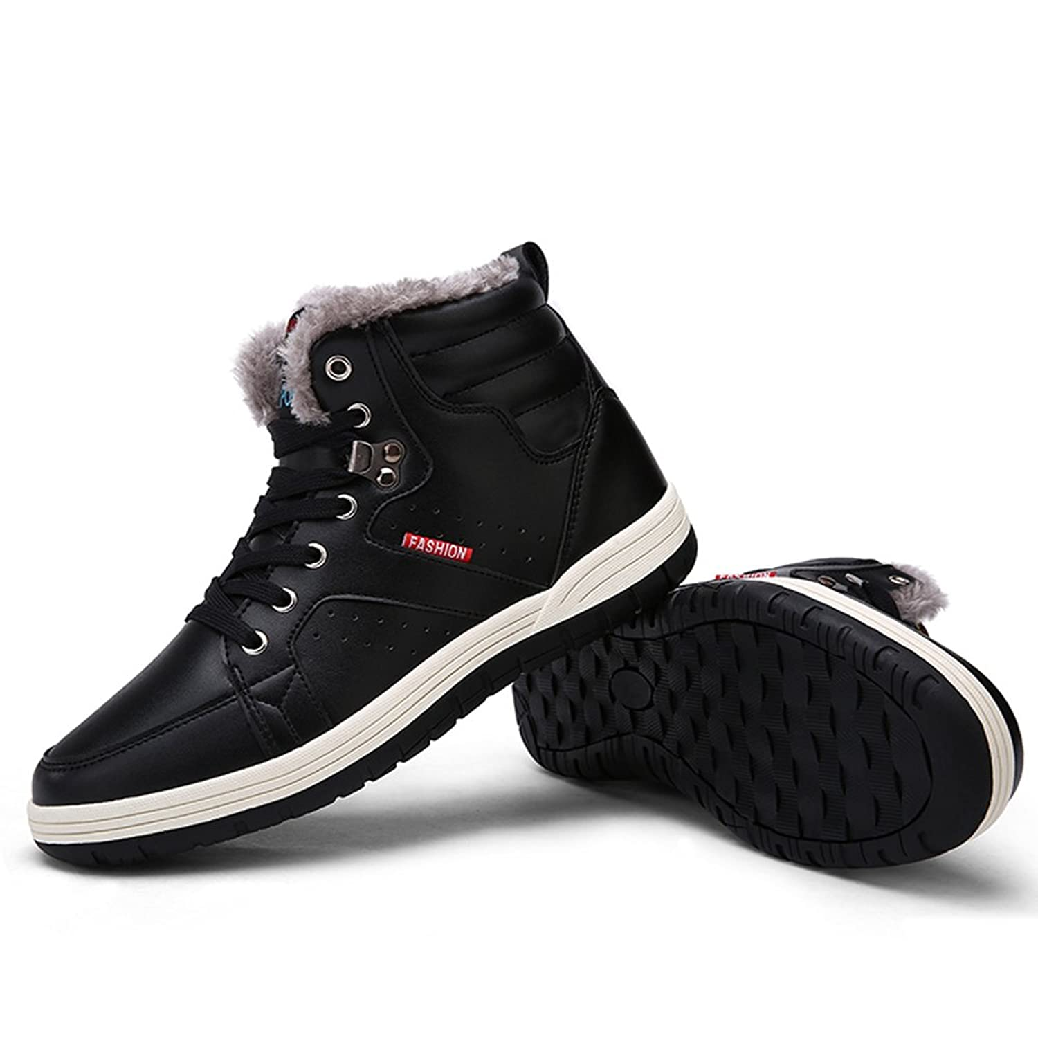 Fung-wong Men's Waterproof Snow Boots Fur Lining Warm Leather Winter Shoes:  Amazon.ca: Shoes & Handbags