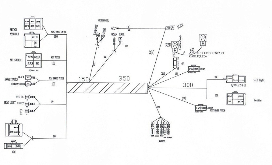 Chinese Atv Wiring Diagram Dirt Bike Parts Diagram Chinese Atv Wiring