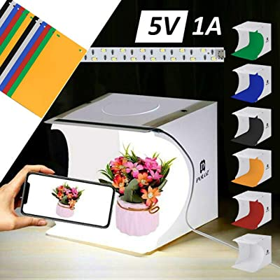 Euone Foldable Portable Photo Mini Light Box Studio Tent Home Photography LED Lights: Toys & Games