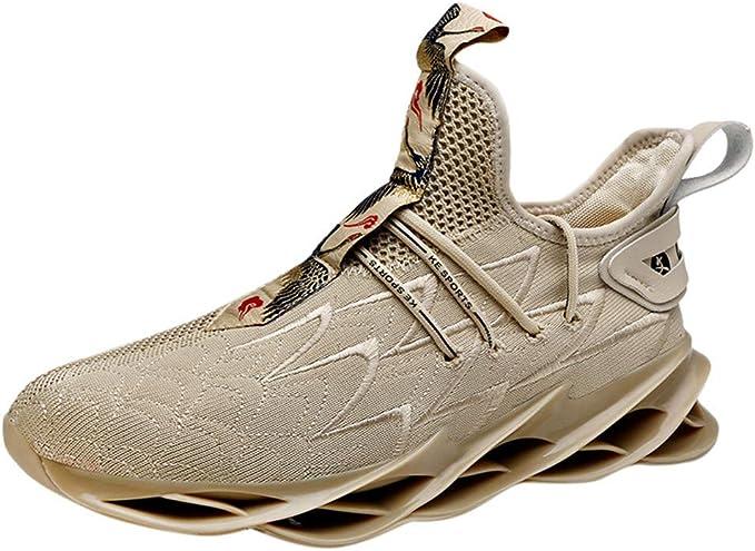 JiaMeng Zapatos de Baloncesto para Hombre Pisos al Aire Libre ...