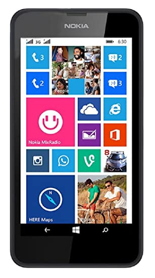 cface1caef7 Amazon.com: Nokia Lumia 630 RM-978 4.5 InchFactory Unlocked - International  Version No Warranty (Black): Cell Phones & Accessories