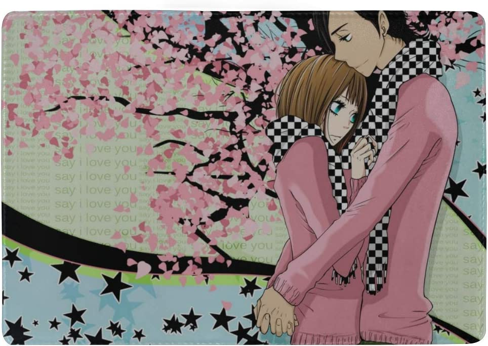 Say I Love You Yamato Kurosawa Mei Tachibana Guy Girl Hug Spring Tenderness Leather Passport Holder Cover Case Travel One Pocket
