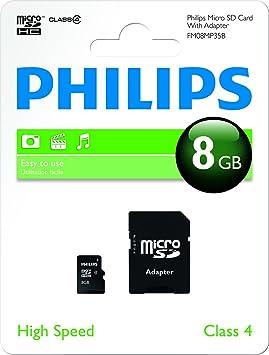 Philips Micro SD C4 - Tarjeta de Memoria Micro SDHC de 8 GB ...