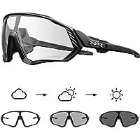 KAPVOE Fotochromatische zonnebril voor fietsen, sport, pc, transparante glazen, uv-bescherming 400, ultralicht, TR90…
