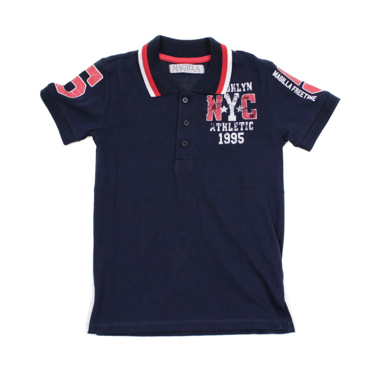 Camiseta Freetime Polo Manga Corta NYC Niño 81915300 Azul Turquesa ...
