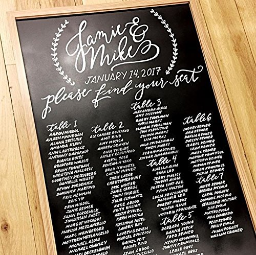 Amazon com rustic chalkboard seating chart handmade