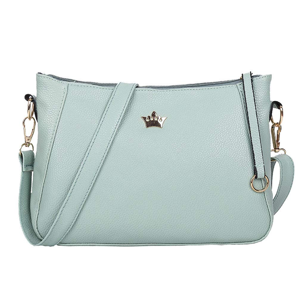 Fashion Women Girls Zipper Solid Color Shoulder Bags Messenger Bag Phone Bag
