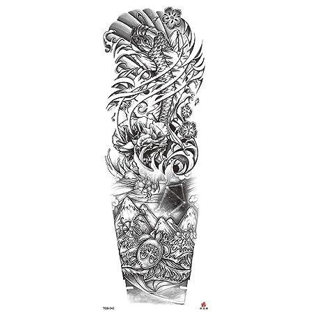 Handaxian Pegatinas de Tatuajes Originales Flor de Brazo Belleza ...