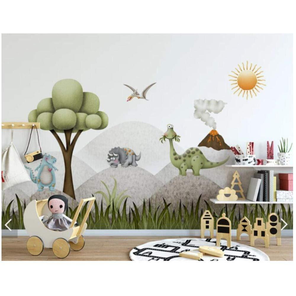 WSTDSM 3D Tree Dinosaur-Wallpaper Wall Mural for Kids Bedroom Children Room TV Background-Wall Paper-Rolls Customize-400cm(W) x250cm(H)(13'1''x8'2'') ft by WSTDSM